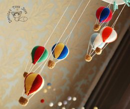 Baby Mobile, Hot Air Balloon Nursery Decor
