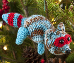 Racy Raccoon Ornament in Red Heart Soft - LW2687 - Downloadable PDF