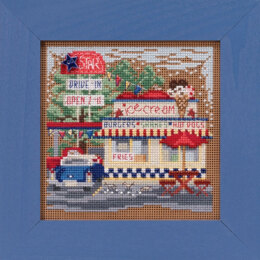Mill Hill Drive-in Main Street Cross Stitch Kit