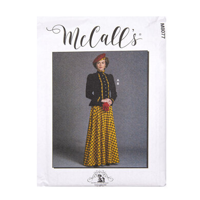 McCall's Misses' Historical Jacket and Skirt M8077 - Sewing Pattern