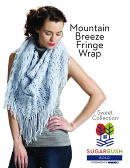 Mountain Breeze Fringe Wrap in Sugar Bush Yarns Bold - 658523 - Downloadable PDF