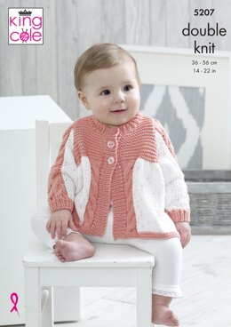 Matinee Coat, Blanket, Hat & Bootees in King Cole Cottonsoft DK & Cottonsoft Candy DK - 5207 - Downloadable PDF