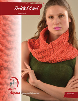 Twisted Cowl in Misti Alpaca Tonos Chunky & Hand Paint Chunky - 3024 - Downloadable PDF