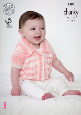 Cardigans in King Cole Baby Soft Chunky - 4581 - Leaflet