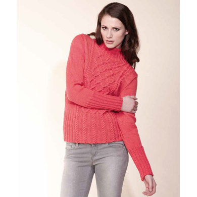Cable Front Sweater in Rico Essentials Merino DK - 179