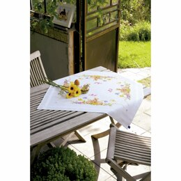 Vervaco Rabbits Embroidery Tablecloth Kit