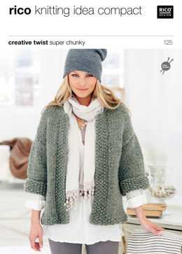 Jacket and Waistcoat in Rico Creative Twist Super Chunky - 125