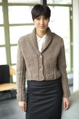 Stitch Detail Jacket in Lion Brand Wool-Ease Thick & Quick - L32041