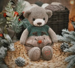 Christmas Bear: in the round method