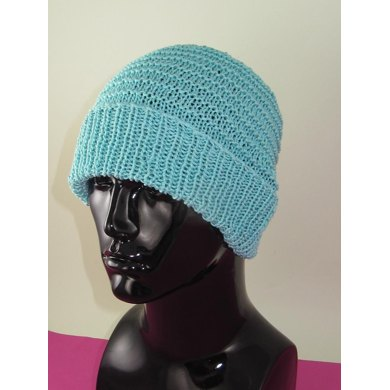 Simple Stripey Spring Beanie Hat