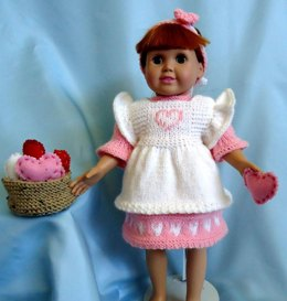 Hearts and Flowers, Knitting Patterns fit American Girl and other 18-Inch Dolls