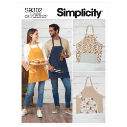 Simplicity Unisex Aprons S9302 - Sewing Pattern
