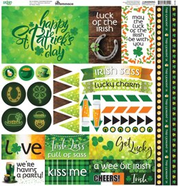 "Reminisce Elements Cardstock Stickers 12""X12"" - Irish Sass"