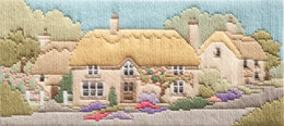Derwentwater Designs Rose Lane Long Stitch Kit - 28 x 12cm