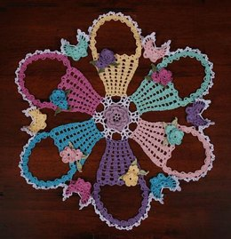 0775 Easter Basket Doily