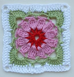 Flower Afghan Block