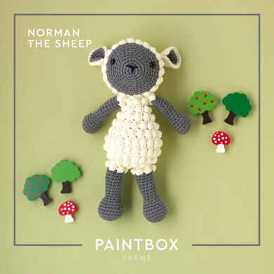 Norman The Sheep: Toy Crochet Pattern for Kids in Paintbox Yarns Cotton Aran Yarn