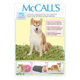 McCall's Pet beds with contrast and lining variations M7613 - Sewing Pattern