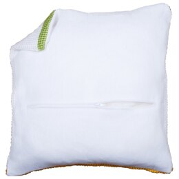 Vervaco Cushion Back with Zipper: White - 45cm x 45cm