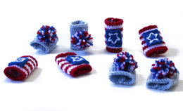 Lion Brand Vanna's Choice 4th of July Napkin Rings - 90205AD