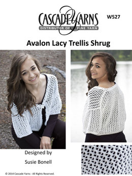 Lacy Trellis Shrug in Cascade Avalon - W527