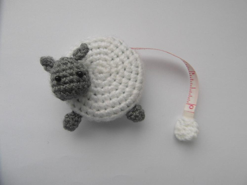 Sheep Tape Measure Cover Crochet Pattern By Justyna Kacprzak