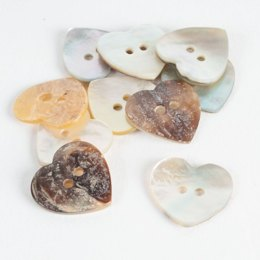 Heart Shaped Shell Buttons