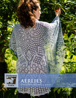 Aerlies Circular Shawl in Juniper Moon Findley - Downloadable PDF