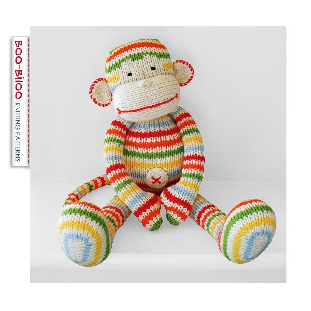 BoBo the monkey Knitting pattern by Boo-Biloo