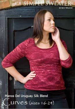 Simple Sweater in Manos del Uruguay Silk Blend