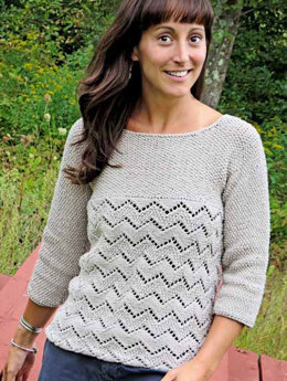 Pathways Sweater in Knit One Crochet Too Dungarease - 2098 - Downloadable PDF