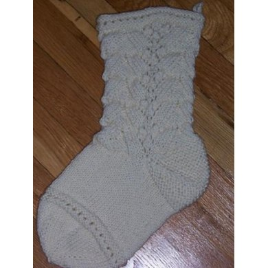 Victorian Lace Christmas Stocking