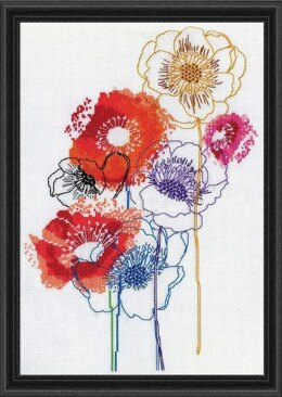 Design Works Modern Floral Cross Stitch Kit - Multi