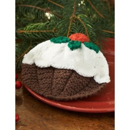 Christmas Pudding Dishcloth in Lily Sugar 'n Cream Solids