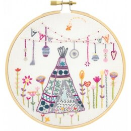 Un Chat Dans L'Aiguille Bohemian Weekend Under the Teepee Embroidery Kit