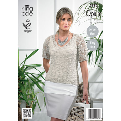 Womens' Sweater in King Cole Opium - 3885