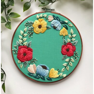 Ring of Posies Embroidery Pattern