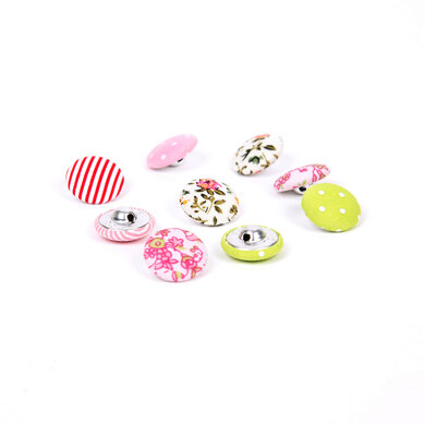 Rico Mixed Pattern Buttons - Fabric