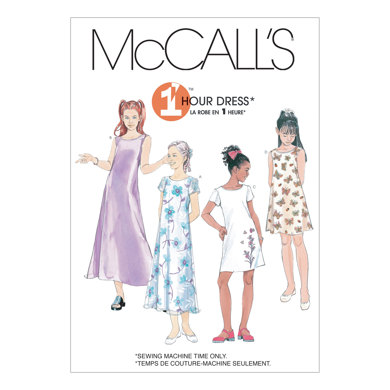 McCall's Girls' Dresses In 2 Lengths M6098 - Sewing Pattern