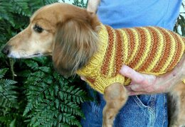 Lena's Textured Stripe Miniature Dachshund Sweater