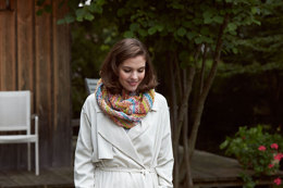 Spring Infinity Scarf in Schachenmayr Bravo Color - Downloadable PDF