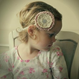 Doily Flower Headband
