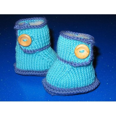 Baby One Button Bumper Booties