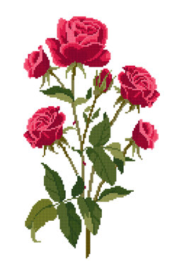 Roses  in DMC - PAT0183 -  Downloadable PDF