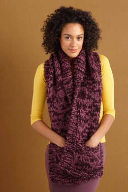 Pocketed October Scarf in Lion Brand Wool-Ease Thick & Quick - 80906B