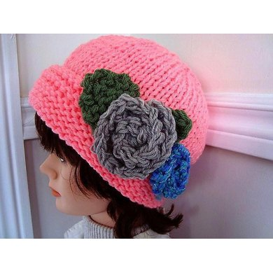 564 KNITTED HAT, adult size for beginners