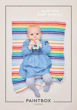 Baby Blanket in Paintbox Yarns Cotton DK - Downloadable PDF
