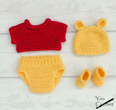 Winnie The Pooh Baby Set Crochet Pattern By You Crochet