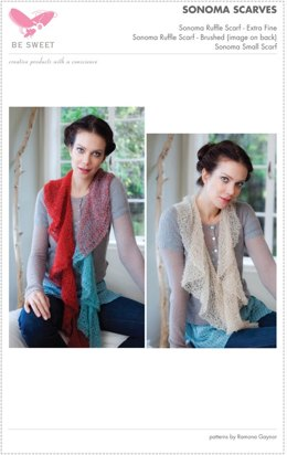 Sonoma Ruffle Scarves in Be Sweet Extra Fine Mohair
