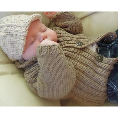 Baby sweater and vest with Newsboy Cap